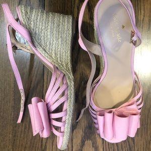 Kate spade pink wedge sandals